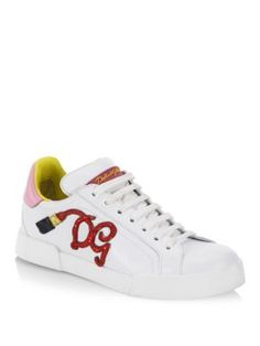3f2b6addba DOLCE & GABBANA Embellished Lipstick Sneakers. #dolcegabbana #shoes # sneakers Bolsos, Tenis