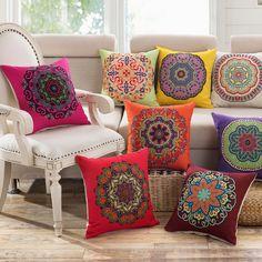 Cushions 14 Style Vintage Cotton Linen Square Throw Pillow Case Home Decor Cushion Cover & Garden Cushions For Sale, Diy Pillows, Linen Pillows, Vintage Cushions, Decorative Cushions, Decorative Pillow Covers, Cushion Cover Designs, Cushion Covers, Decor Pillows