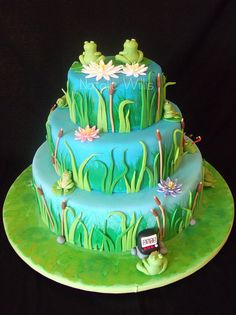 Frog Cake by SweetTart Cakes {Natalie}, via Flickr