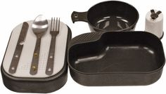 Red Rock Outdoor Gear Mess Kit Metal knife, spoon and fork Bowl with handle (holds oz.) Spice shaker, large bowl, plate and cutting board (large bowl holds oz.
