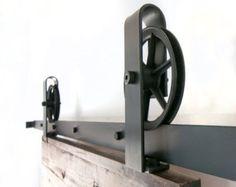 Heavy Duty Industrial Single Strap Sliding Barn by TheWhiteShanty