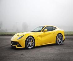 Yellow Ferrari f12 berlinetta on hd wallpaper from http://yours-cars.eu/FERRARI/Ferrari6.htm