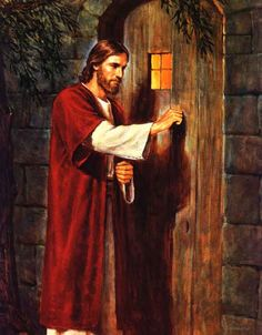 """""""Estoy a la puerta y llamo"""" Nuestra opción está en nuestras manos. Abramos de par en par las puertas a Cristo! !!"""