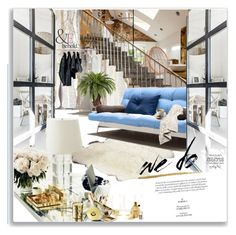 """""""Untitled #1337"""" by maja-k ❤ liked on Polyvore featuring interior, interiors, interior design, home, home decor, interior decorating, Internoitaliano, Nearly Natural, ASOS and Lush Décor"""