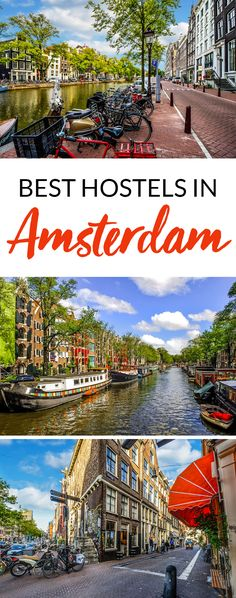 The ultimate travel guide to the best hostels in Amsterdam. | Don't spend hours researching where to stay in Amsterdam. Find the best cheap places to stay in Amsterdam with the help of this guide.