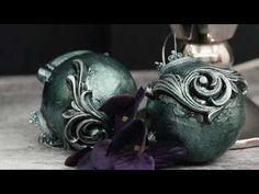 Быстрый декор елочного шара полимерной глиной / Christmas Toy made of polymer clay - YouTube