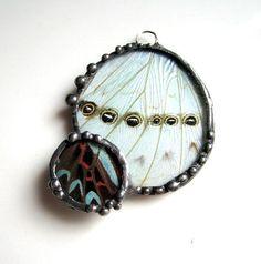 Lovely Duo Butterfly Pendant by Debra's Divine Designs