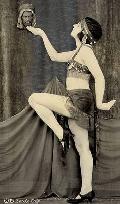 Unknown dancer- Salome maybe,1920s  Exhibit Supply Company Chicago