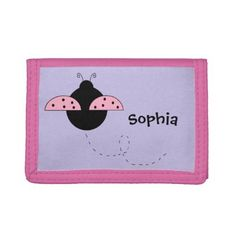 "Personalized ""Ladybug"" Wallet - accessories accessory gift idea stylish unique custom"