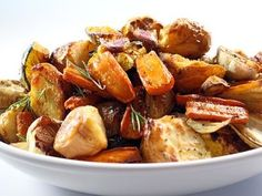 Classic Roast Vegetables with Roasted Garlic and Rosemary recipe