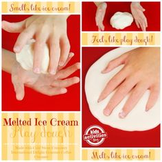 Melted Ice Cream Play Dough made with Cold Stone Creamery International Delight Gourmet Coffee Creamer