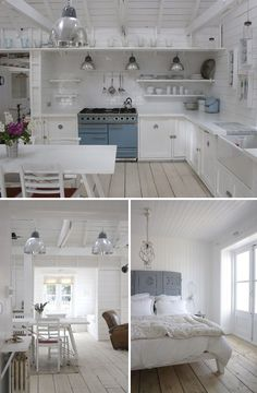 Inspirational Beach Cottage Kitchen Decoration and Interior Design Ideas 2019 Dec . - Inspirational Beach Cottage Kitchen Decoration and Interior Design Ideas 2019 decoration ideas tren - Cottage Living, Coastal Cottage, Cottage Homes, Coastal Decor, White Cottage, Coastal Living, Coastal Style, Beach Cottage Curtains, Coastal Homes