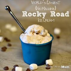 Architecture of a Mom: Homemade Rocky Road Ice Cream--No Machine Needed