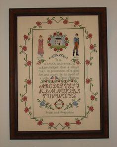 Jane Austen Pride and Prejuidice Sampler by WestWindCrossStitch