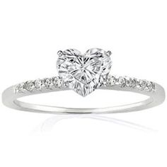 My Favorite Diamond Heart Engagement Rings! Heart Shaped Diamond Ring, Heart Shaped Engagement Rings, Perfect Engagement Ring, Diamond Wedding Rings, Diamond Rings, Diamond Engagement Rings, Wedding Band, Love Ring, Dream Ring