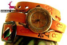(KUNST)STÜCK 4 Unikat Wickeluhr Armbanduhr Unisex von Schloss Klunkerstein - Uhren, von Hand gefertigter Unikat - Schmuck aus Naturmaterialien, Medaillons, Steampunk -, Shabby - & Vintage - Schätze, sowie viele einzigartige und liebevolle Geschenke ... auf DaWanda.com