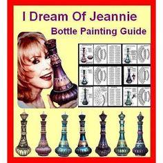 I Dream Of Jeannie Bottle Painting Guide - Photo Bottle Drawing, Bottle Painting, Arabian Nights Prom, I Dream Of Genie, Cutting Wine Bottles, Genie In A Bottle, Genie Lamp, Barbara Eden, Dream Of Jeannie