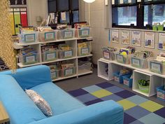 Classroom Library, my third grade teacher had a couch in the corner with book shelfs and a shower curtian on one side to block off a quiet area. It made such a lasting impression on me I wanted to grow up and do it in my classroom