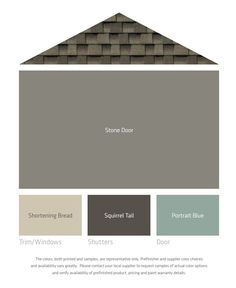 Exterior paint Top color for the house Middle color for the trim