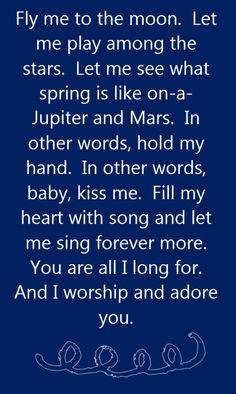♥Frank Sinatra - Fly Me to the Moon - song lyrics, song quotes, songs, music lyrics, music quotes,