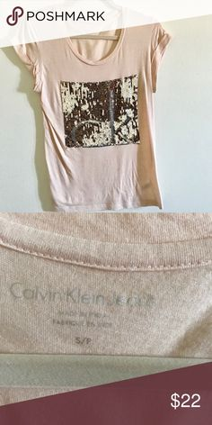 CK Top Beautiful color ! S size, can fit a M size;) worn only  once ! Accepting offers! Calvin Klein Jeans Tops Tees - Short Sleeve