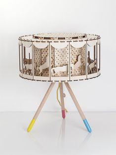 Carousel Table Lamp (via Smagaprojektanci on Etsy)