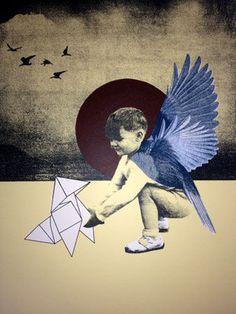 """Rhed Fawell, Screenprint  """"Frankie's 1st Flight"""""""