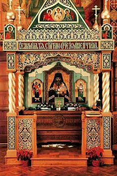 The holy reliquary. approach with reverence. Catholic Saints, Roman Catholic, Prayer Corner, Byzantine Art, Orthodox Christianity, Orthodox Icons, Christian Art, Saint John, Shanghai