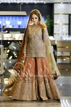 New punjabi bridal wear embroidery Ideas Asian Bridal Dresses, Latest Bridal Dresses, Wedding Dresses For Girls, Party Wear Dresses, Bridal Outfits, Bridal Shoes, Dress Wedding, Wedding Hair, Pakistani Wedding Outfits
