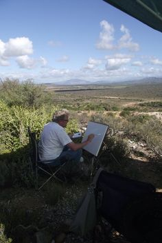 ArtKaroo Outdoors - painting excursions in the beautiful Klein Karoo with Janet Dixon - inspiration & refreshments included!