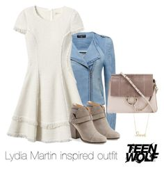 """Lydia Martin inspired outfit/TW"" by tvdsarahmichele ❤ liked on Polyvore featuring Forever New, Rebecca Taylor, Chloé, rag & bone and Sydney Evan"