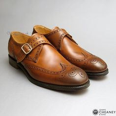 Shoe Porn: Joseph Cheaney Sons Monk-Strap Brogues Even though the double monk has been in style, these may be the best monks I've seen recently Mens Fashion Wear, Fashion Shoes, Men's Fashion, Cheaney Shoes, Gentleman Shoes, Gentleman Style, Best Shoes For Men, Elegant Man, Jeans And Sneakers