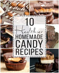 These 10 healthy candy bars recipes are perfect to satisfy your sweet tooth! They're also perfect for Halloween or to bring to a gathering! Gluten-free and sugar-free recipes! #healthyrecipes #candyrecipe Homemade Twix Bars, Homemade Candies, Homemade Chocolate, Chocolate Recipes, Caramel Recipes, Easy Candy Recipes, Sugar Free Recipes, Baking Recipes, Healthy Recipes