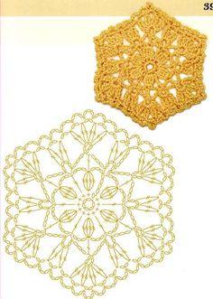 Crochet granny square chart diagram