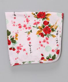 Take a look at this Pink Vintage Asian Floral Organic Receiving Blanket by Mad Sky on #zulily today!