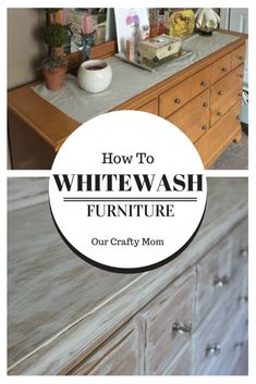 How To Whitewash Furniture-ORC Week 3-Master Bedroom Our Crafty Mom