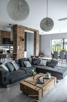 Look Over This Nordic gray modern home interior design The post Nordic gray modern home interior design… appeared first on Derez Decor .