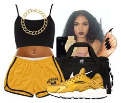 """""""✨"""" by miss-hollyhood ❤ liked on Polyvore featuring River Island, Michael Kors, NIKE and Susan Caplan Vintage"""