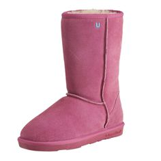 """""""Nelly"""" Pink Stella Water-Resistant Wool Boots from Le Bunny Bleu"""