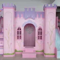 camas y literas infantiles kids world classique Princess Castle Bed, Princess Room, Bunk Bed Rooms, Bunk Beds, Small Room Bedroom, Girls Bedroom, Frozen Girls Room, Mermaid Room, Toy House