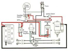 Ignition and charging system diagram baja bugs pinterest tractor ignition switch wiring diagram see how simple it cheapraybanclubmaster Images