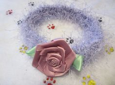 Satin Rose Pet Collar by FoxHuffDesigns on Etsy