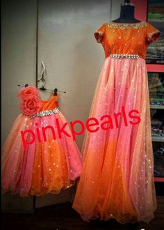 Mom and me Mom And Baby Outfits, Little Girl Dresses, Kids Outfits, Baby Dresses, Mom Daughter Matching Dresses, Mother Daughter Outfits, Baby Birthday Dress, Birthday Dresses, Kids Lehenga Choli