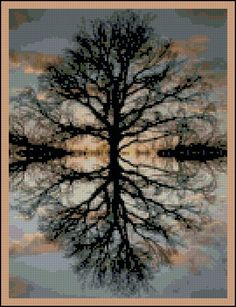 Reflections of Nature - Counted Needle Point and Cross Stitch Chart Patterns. $18.00, via Etsy.