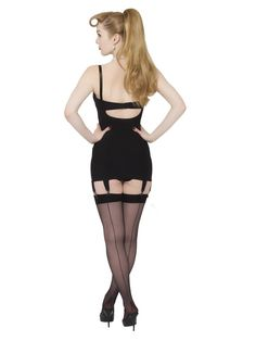 Glamorous vintage inspired cincher designed to cinch your waistline. Made from strong powermesh and fully steel boned our Glamour Waist Cincher is a must if you're a fan of vintage fashion. Retro Stockings, Nylon Stockings, Stocking Glamour, Lingerie Vintage, What Katie Did, Fully Fashioned Stockings, Stockings And Suspenders, Gaines, Black