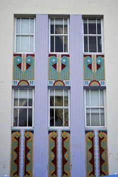 South Beach windows Art Deco