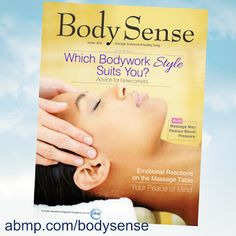 Google+ post from the Associated Bodywork & Massage Professionals of which I am a member. http://kmg-therapeutic.massagetherapy.com/body-sense-magazine Get Your copy from our website.