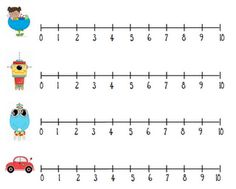 picture about Printable Number Line 1 10 called 46 Easiest Amount Traces shots within just 2019 Math figures, Math
