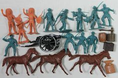 MARX FORT APACHE CAVALRY SOLDIERS PACK HORSE CANNON ACCESSORIES PLAYSET LOT #oldtoysandcollectables #toysoldiers #playsets #vintage #toys