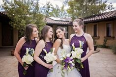 Purple Bridesmaids Dresses | Tuscan Inspired Wedding | COUTUREcolorado WEDDING: colorado wedding blog + resource guide